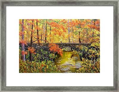 Blanchard Springs Arkansas Framed Print
