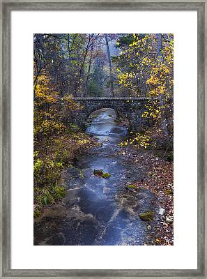 Blanchard Stone Bridge Framed Print
