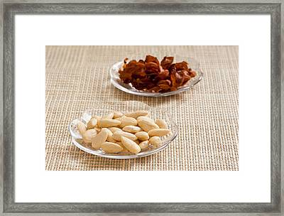 Blanched Almonds On Wet Method Framed Print