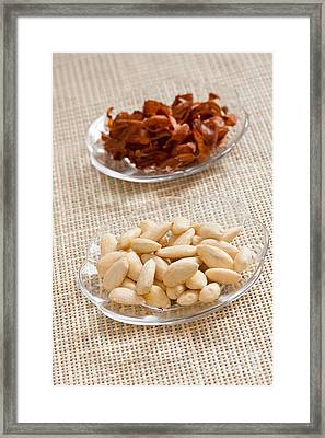 Blanched Almonds Snack Framed Print