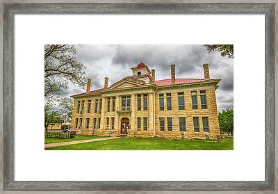 Blanco County Tx Courthouse  Framed Print by Stephen Stookey