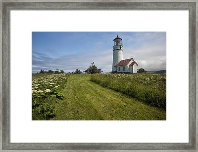 Blanco Lighthouse Framed Print