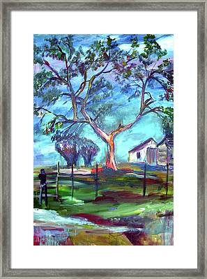 Blanco Texas Ranch House Framed Print