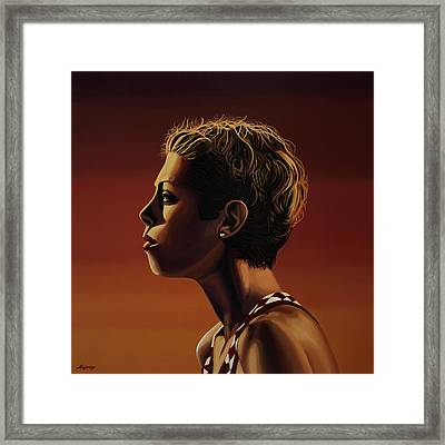 Blanka Vlasic Painting Framed Print by Paul Meijering