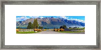 Blanket Bay And Mt Bonpland Framed Print