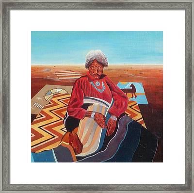 Blanket Weaver Framed Print by Don Trout