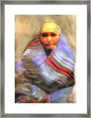 Framed Print featuring the painting Blanket Weaver by FeatherStone Studio Julie A Miller