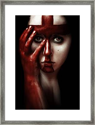 Blasphemy Framed Print by Art of Invi
