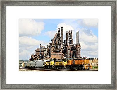 Blast Furnace A - Bethlehem Pa Framed Print