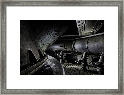 Framed Print featuring the photograph Blast Furnace Piping by Dirk Ercken