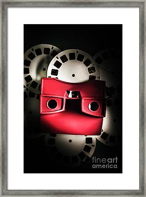 Blast Past A Retro Play Back  Framed Print