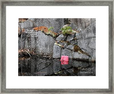 Blasted And Trashed Framed Print