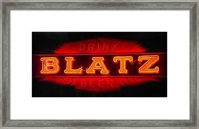 Blatz Beer  Framed Print