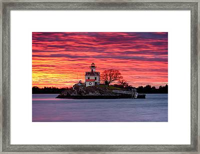Rock Ablaze Framed Print