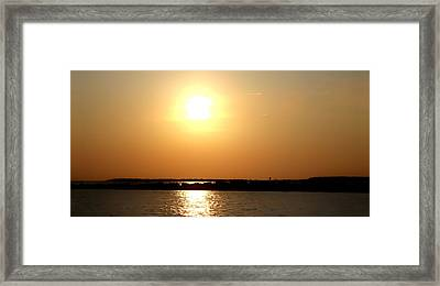 Blaze Of Glory Framed Print by Debra Forand