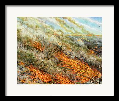 Combustion Paintings Framed Prints