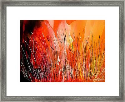 Blaze Framed Print by Yvette Sikorsky