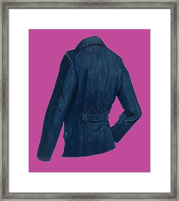 Blazer Back Framed Print by Vlasta Smola