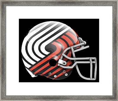 Blazers What If Its Football Framed Print