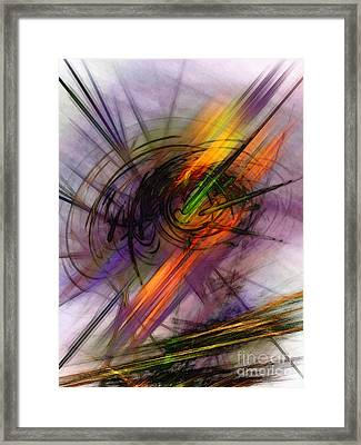 Blazing Abstract Art Framed Print