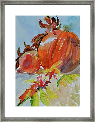 Framed Print featuring the painting Blazing Autumn by Beverley Harper Tinsley