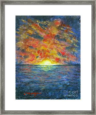 Blazing Glory Framed Print by Laurie Morgan