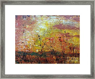Blazing Prairie Framed Print by Jacqueline Athmann