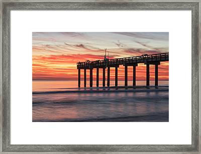 Blazing Sunrise Framed Print