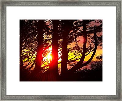 Blazing Sunset Framed Print