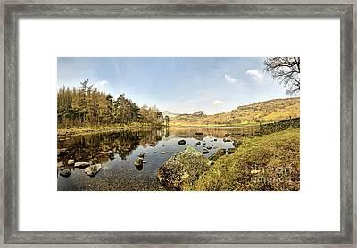 Blea Tarn Panorama Framed Print by Nichola Denny