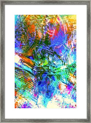 Bleached Vibrance Framed Print by Tom Gowanlock