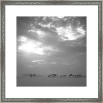 Bleak Cold Winter Framed Print