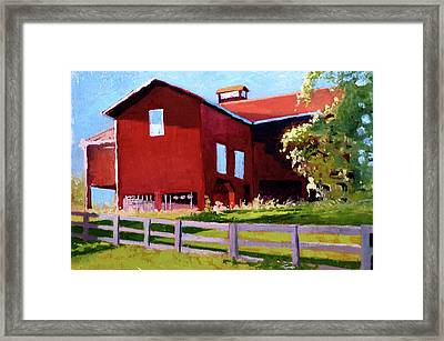 Bleak House Barn No. 3 Framed Print by Catherine Twomey
