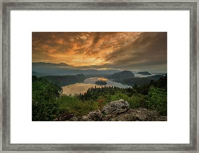Bled On Fire Framed Print