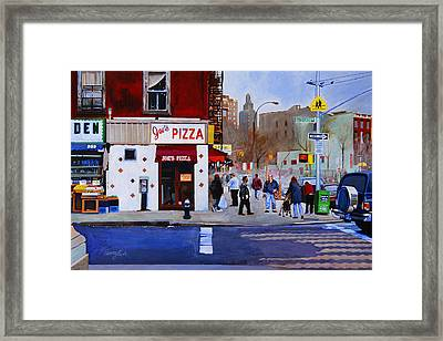 Bleecker Street Framed Print by John Tartaglione