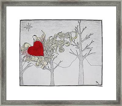 Framed Print featuring the drawing Bleeding Heart by Daryl Chakravarthy