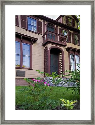Bleeding Hearts At General Chamberlain's House  -50587 Framed Print by John Bald