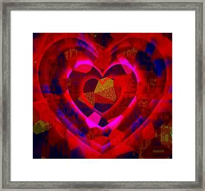 Bleeding Hearts For The Elderly In Haiti Framed Print by Fania Simon
