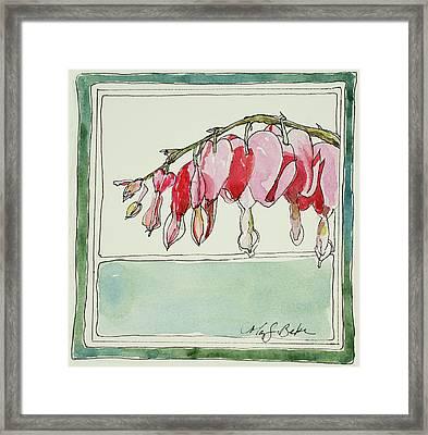 Bleeding Hearts II Framed Print
