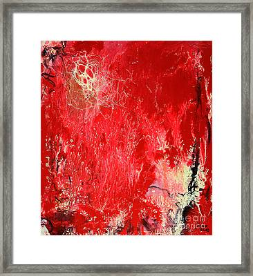 Bleeding Love Framed Print by Jutta Maria Pusl