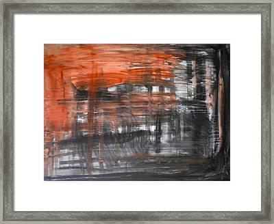 Bleeding Through Framed Print by Dylan Chambers