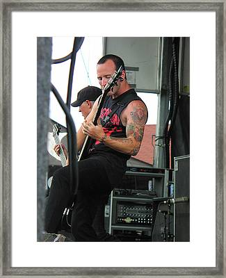 Bleeding Through Guitarist Framed Print