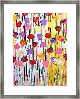 Bleeding Tulips Framed Print