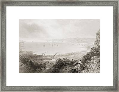 Blefast Lough, Ireland.drawn By Framed Print