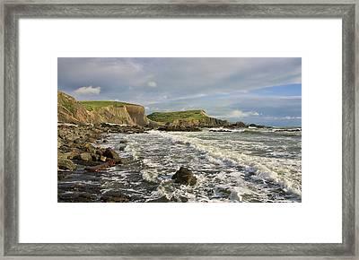 Blegberry Beach In North Devon Framed Print by Pete Hemington