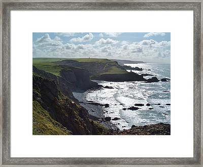 Blegberry Cliffs From Damehole Point Framed Print