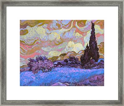 Blend 20 Van Gogh Framed Print by David Bridburg