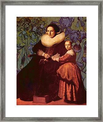 Blend II Rembrandt Framed Print by David Bridburg