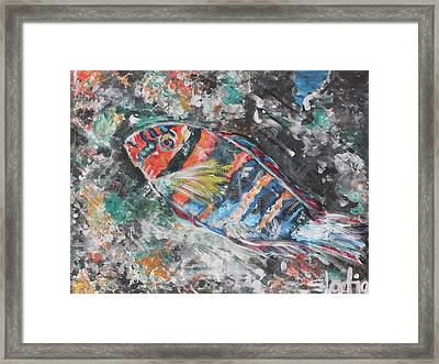 Framed Print featuring the painting Blend by Sladjana Lazarevic