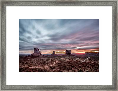 Blended Colors Over The Valley Framed Print
